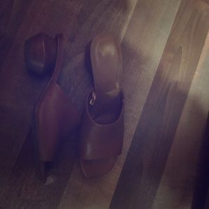 Zara mules with wooden heel